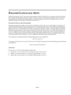 ENGLISH LANGUAGE ARTS - San Diego Unified School District