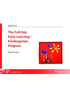 The Full-Day Early Learning – Kindergarten Program