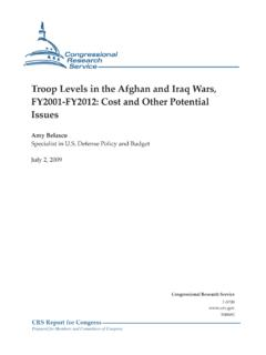 Troop Levels in the Afghan and Iraq Wars, FY2001-FY2012 ...
