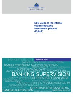 ECB Guide to the internal capital adequacy assessment ...