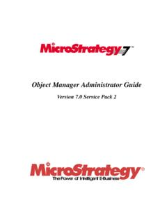 Object Manager Administrator Guide