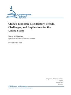 China's Economic Rise: History, Trends, Challenges, …