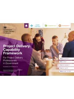 Project Delivery Capability Framework