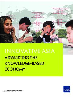 Innovative Asia: Advancing the Knowledge-Based Economy ...