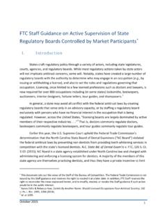 FTC Staff Guidance on Active Supervision of State ...