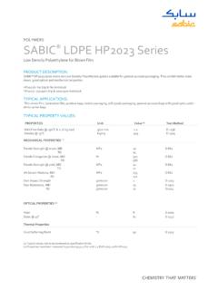 POLYMERS SABIC LDPE HP2023 Series