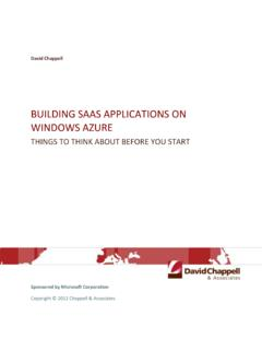 Building SaaS Applications on Windows Azure - …