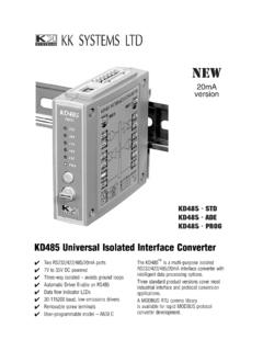 KD485 Universal Isolated Interface Converter
