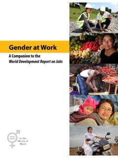 Gender at Work - World Bank