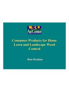 Consumer Products for Home Lawn and …