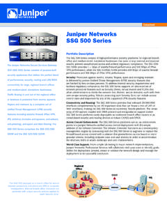 Juniper Networks SSG 500 Series Data Sheet - CC