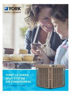 YORK LX SERIES AIR CONDITIONERS