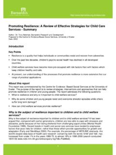 Promoting Resilience: A Review of Effective …