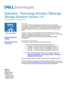 Specialist - Technology Architect, Midrange Storage ...