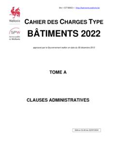 CAHIER DES CHARGES TYPE BÂTIMENTS 2022