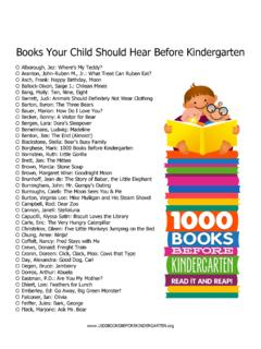 Books Your Child Should Hear Before Kindergarten