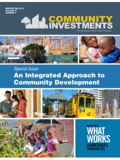 Special Issue: An Integrated Approach to Community …