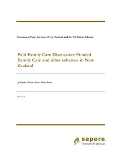 Paid Family Care Discussion: Funded Family ... - carers.net.nz