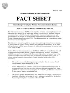 FEDERAL COMMUNICATIONS COMMISSION FACT SHEET