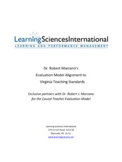 Dr. Robert Marzano's - Marzano Teacher Evaluation