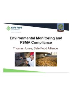 Environmental Monitoring and FSMA Compliance