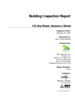 Sample Inspection Report