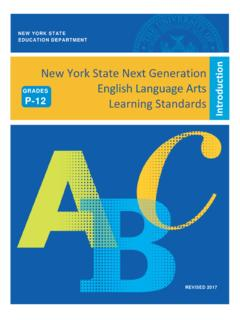 Introduction New York State Next Generation English ...