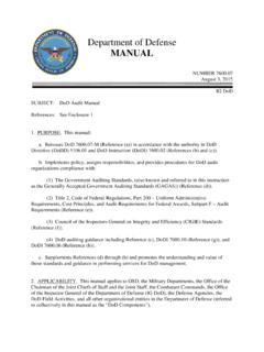 Department of Defense MANUAL - AcqNotes