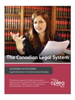 The Canadian Legal System - cplea.ca
