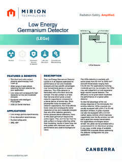 Low Energy Germanium Detector - CANBERRA …