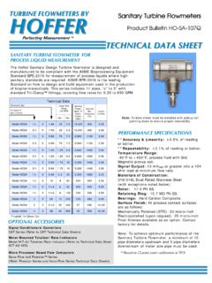 TURBINE FLOWMETERS BY HOFFER - Hoffer Flow Controls