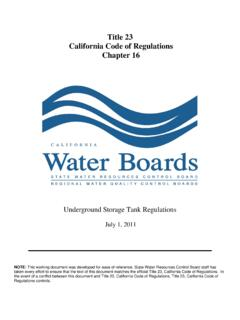Title 23 California Code of Regulations Chapter 16