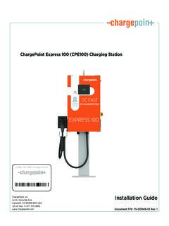 ChargePoint Express 100 (CPE100) Charging Station ...