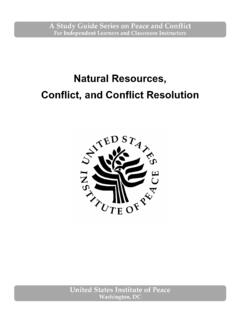 Natural Resources, Conflict, and Conflict Resolution