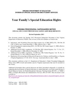 Your Family's Special Education Rights