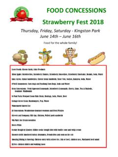 2017 Strawberry Fest Food Vendors