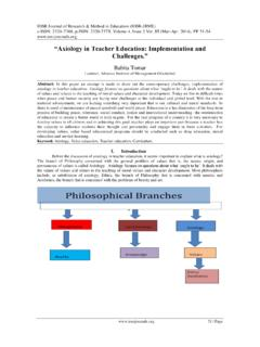 """Axiology in Teacher Education: Implementation and ..."