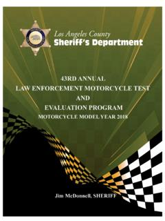 43RD ANNUAL LAW ENFORCEMENT MOTORCYCLE TEST …