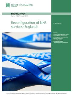 Reconfiguration of NHS services (England)