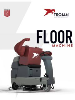 Floor Machine - Trojan Battery
