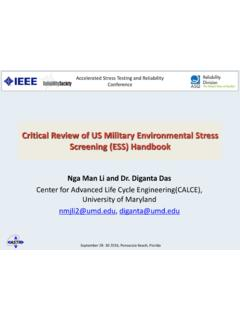 Critical Review of US Military Environmental Stress ...