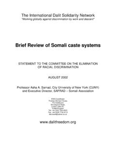 Brief Review of Somali caste systems - MADHIBAAN