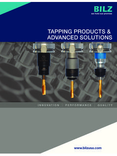 TAPPING PRODUCTS & ADVANCED SOLUTIONS - Supplies