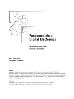 Fundamentals of Digital Electronics - Clarkson University