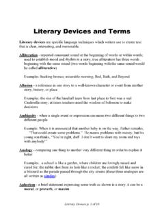 Literary Devices and Terms