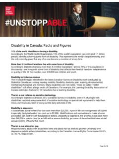 Disability in Canada: Facts and Figures - Easter Seals Canada
