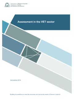 Assessment in the VET sector - dtwd.wa.gov.au