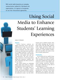 Using Social Media to Enhance Students' Learning …