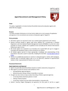 Agent Recruitment and Management Policy