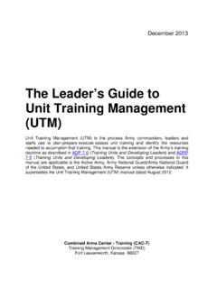 Unit Training Management (UTM) - …